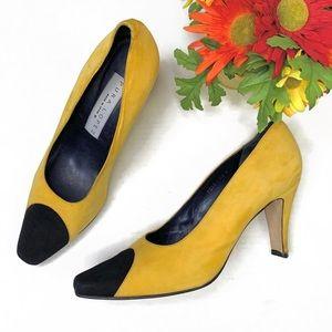 VTG Pura Lopez Yellow Suede Pump | 9.5